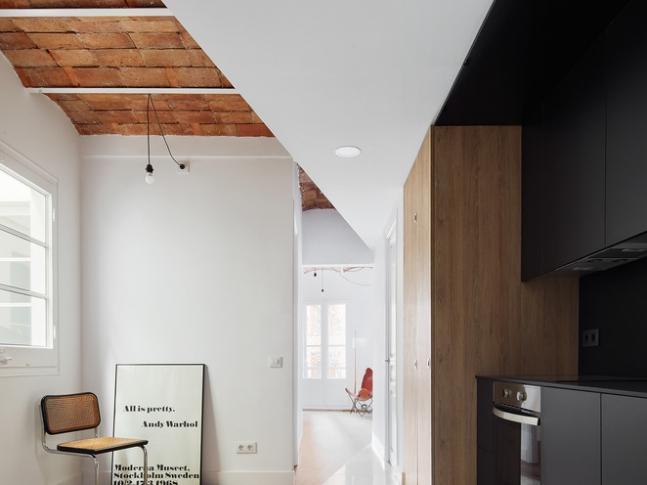 Rekonstrukce bytu v Barceloně - kuchyň