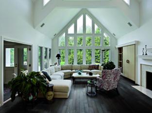 Obývací pokoj s dechberoucím výhledem