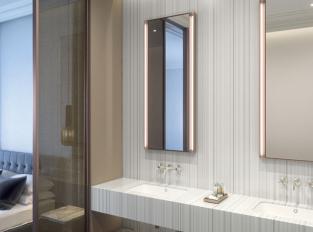 Corian hotelová koupelna