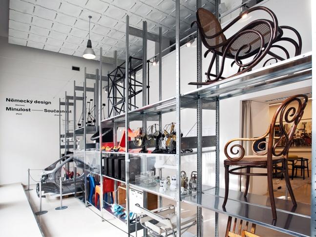 německý design - instalace výstavy