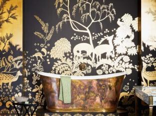 Elegantní koupelna ve stylu art deco