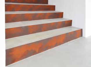 Stěrka Microverlay na schodišti