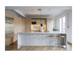 Dřevěná stuha v interiéru - kuchyň