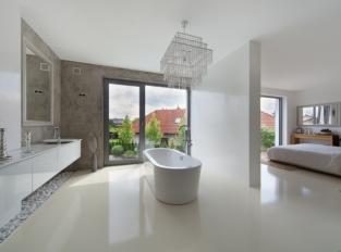 Imitace betonu - koupelna