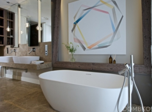 Byt v srdci Prahy - koupelna