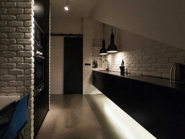 Půdní byt  Krásova kuchyně kuchyne3