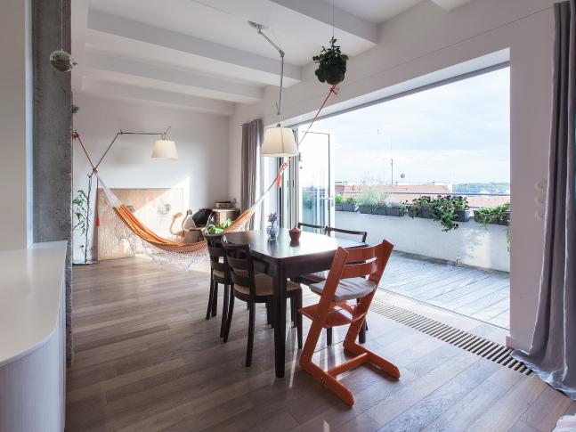 Malý penthouse - Obývací pokoj