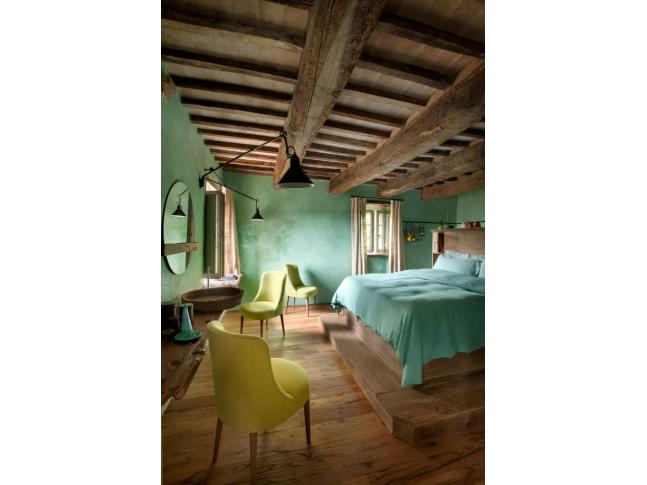 Mentolová ložnice hotelu Monteverdi