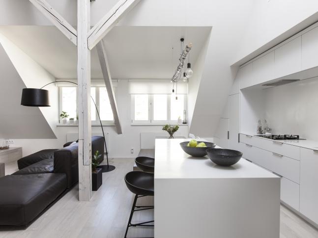 Půdní byt Bulharská - kuchyně