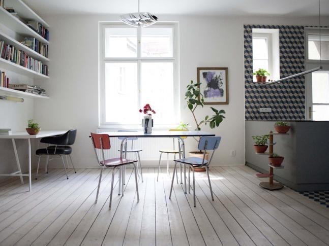Byt Holešovice II Byt Holešovice II / obývací pokoj; Foto: Barbora Kleinhamplová