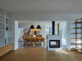 Lesní vila - obývací část