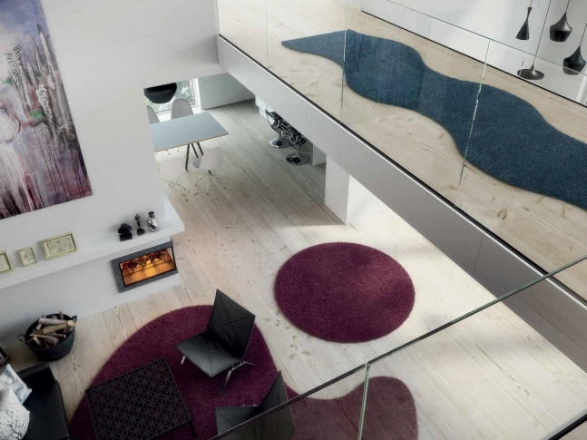 Moderní kusové koberce s různými tvary Moderní kusové koberce Fletco rugs v interiéru.