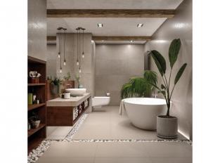 Technistone® Noble Concrete v koupelně