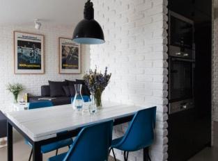 Půdní byt Krásova obývací prostor