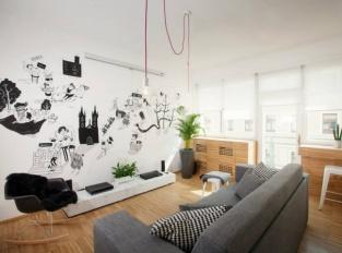 Apartmán Františka Křižíka obývací pokoj