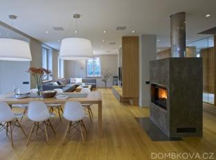 Rekonstrukce vily - obývací pokoj