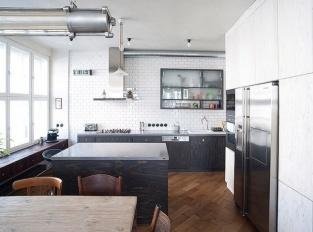 Byt pro milovníky umění - kuchyň