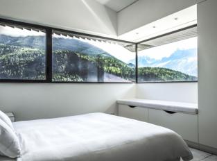Chata v Chamonix - ložnice