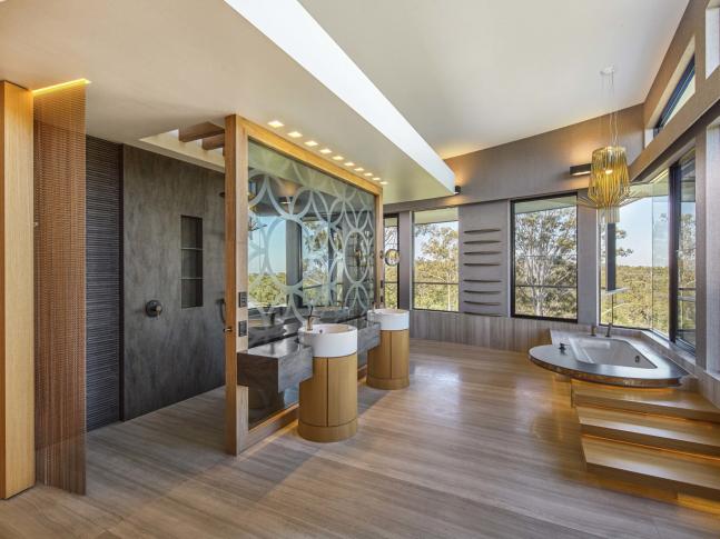Prosvětlená koupelna Corian
