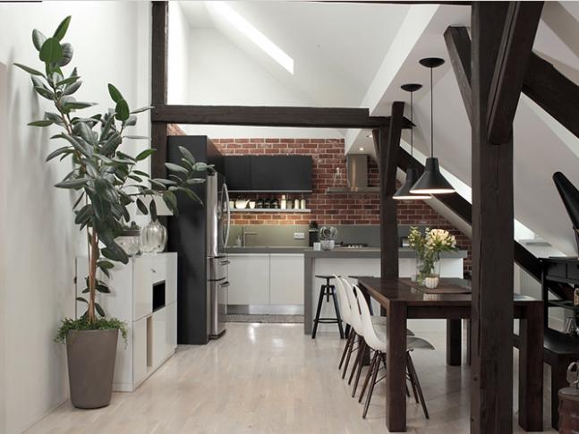 Slezská - kuchyň s jídelnou