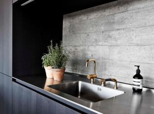 Kuchyň s pokojem v penthouse Bunker