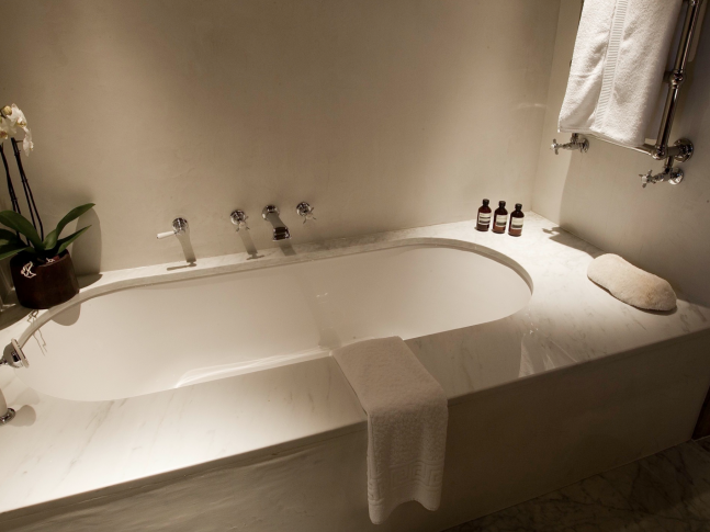 Koupelna hotelu Le Chalet Zannier