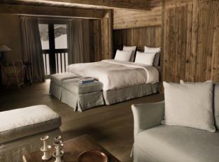 Ložnice hotelu Le Chalet Zannier