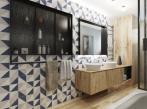 Koupelna ve Farmhouse stylu