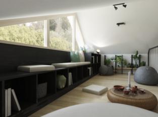 Obývací pokoj Farmhouse stylu