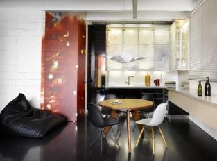 Byt v Tovární - obytný prostor s kuchyní