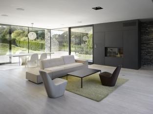 Obývací pokoj vily v Řitce
