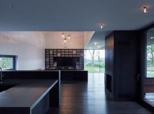 Engel House - obývací pokoj