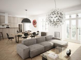 Duplex Bubeneč - obývací pokoj