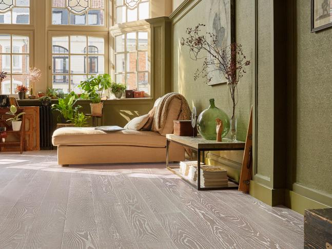 Obývací pokoj s podlahou Volunta