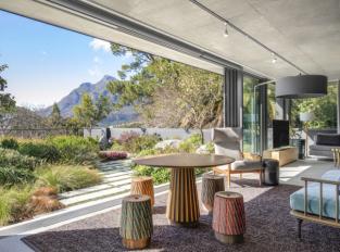 Obývací pokoj v domě v Kapském Městě