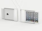 Architektonické řešení výstavy ReD 8 Závěsný rámeček na iPad, navržený pro výstavu