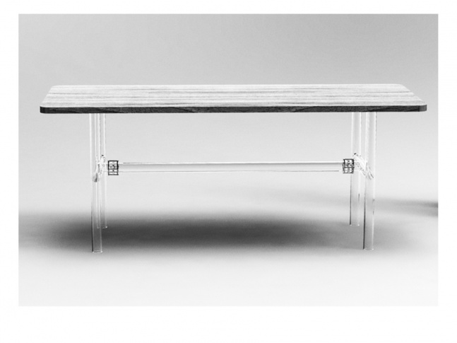 Glass table for Kavalier