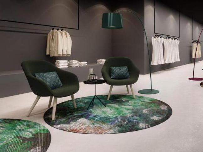 Zátěžový kusový koberec RugXstyle Amsterdam Kulaté kusové koberce do hotelů a restaurací pro vysokou zátěž.
