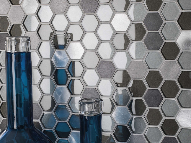 Mosaic - Fusion Hexagon Steel Mix