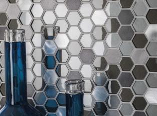 Mosaic - Fusion Hexagon Steel Mix