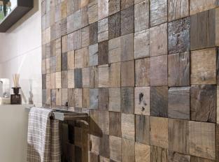 Mosaic - Wood Square Aged
