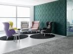 Designový zátěžový koberec RugXstyle Aarhus Kombinace kusových koberců a kobercových čtverců vhodných do kanceláře.