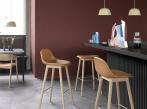 Barová židle s opěrkou Muuto Fiber