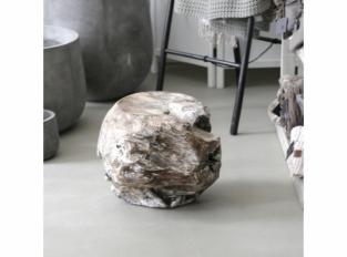 Stolek teak tvarovaný bělený