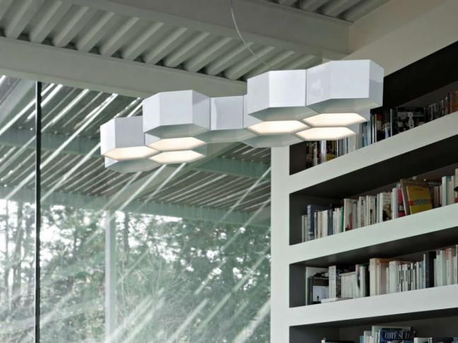 Závěsná lampa Honeycomb