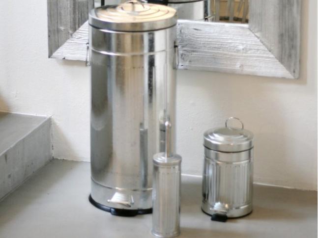 LOOOOX - koš na prádlo, stříbrný