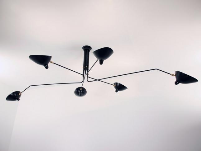 Závěsná lampa Serge Mouille P6B