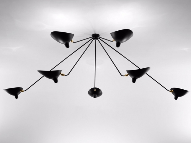Závěsná lampa Serge Mouille PAR7B