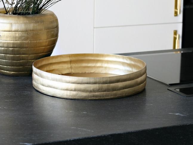 LOOOOX podnos hliníkový zlatý matný antik