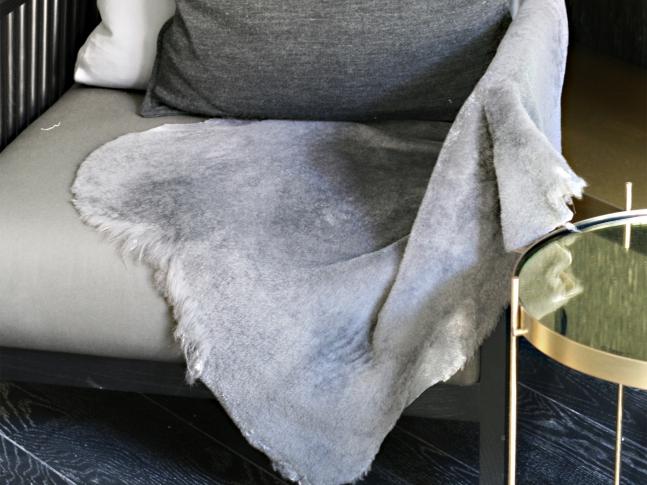LOOOOX šedá kožešina z islandské ovce